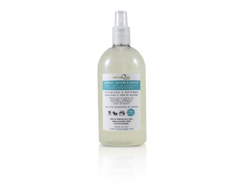 Natura OggiSpray Igienizzante Per Tutte Le Superfici 70% Di Acool 500 ml