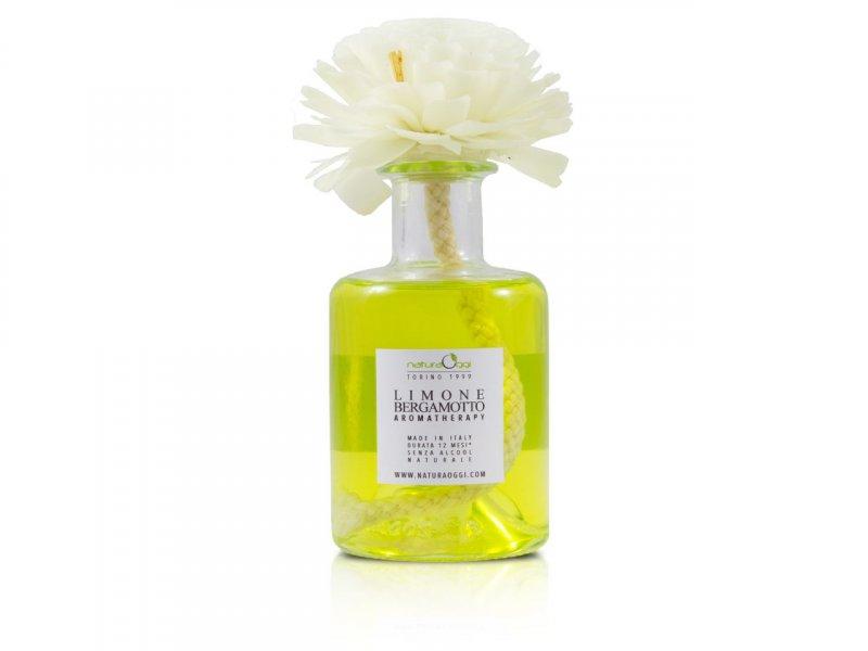 Natura OggiDiffusore con Fiore 180 ml Limone e Bergamotto