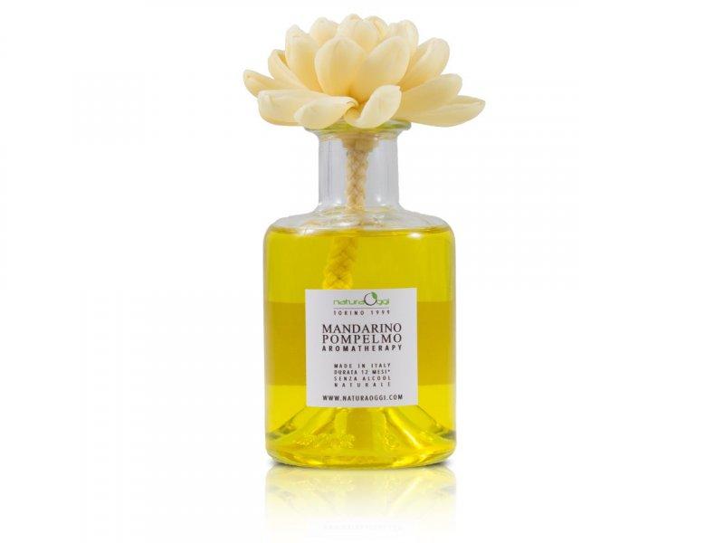 Natura OggiDiffusore con Fiore 180 ml Mandarino e Pompelmo