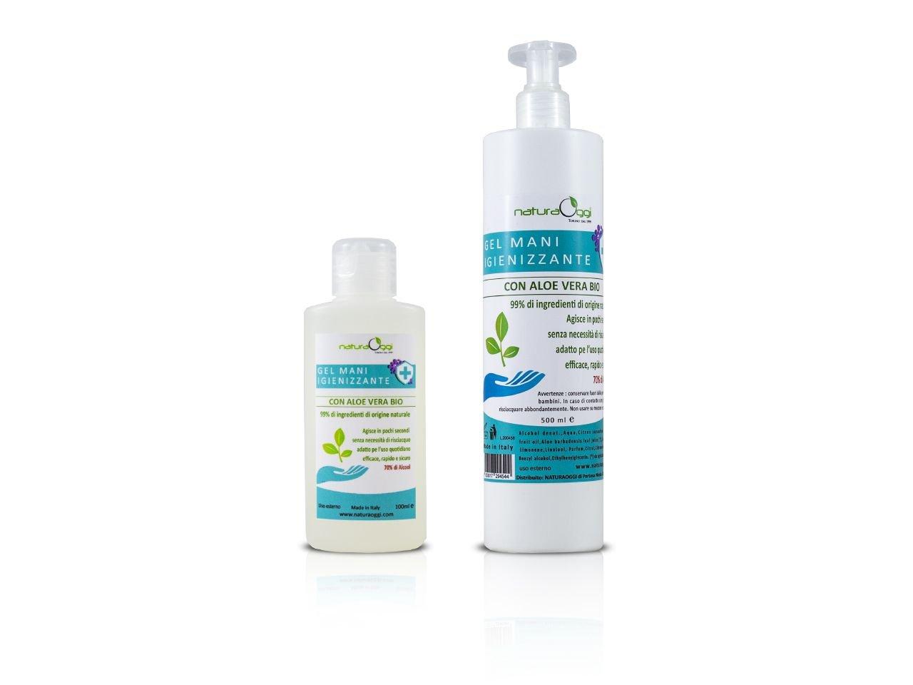 Gel Mani Igienizzante Aloe Vera 100ml + Ricarica 500ml -1