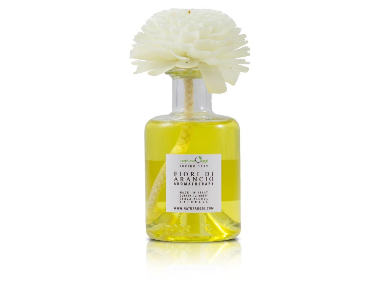 Diffusore con Fiore 180 ml Fiori D'arancio - v1