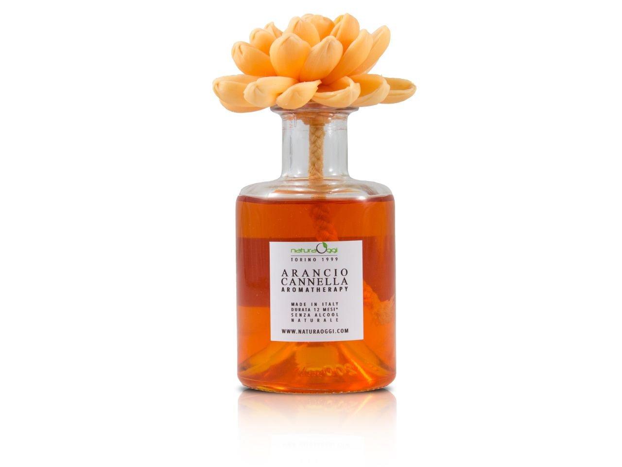 Diffusore con Fiore 180 ml Arancio e Cannella - v1