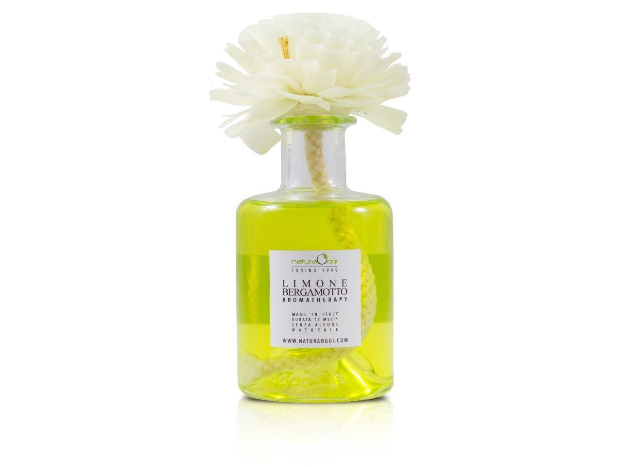 Diffusore con Fiore 180 ml Limone e Bergamotto - v1