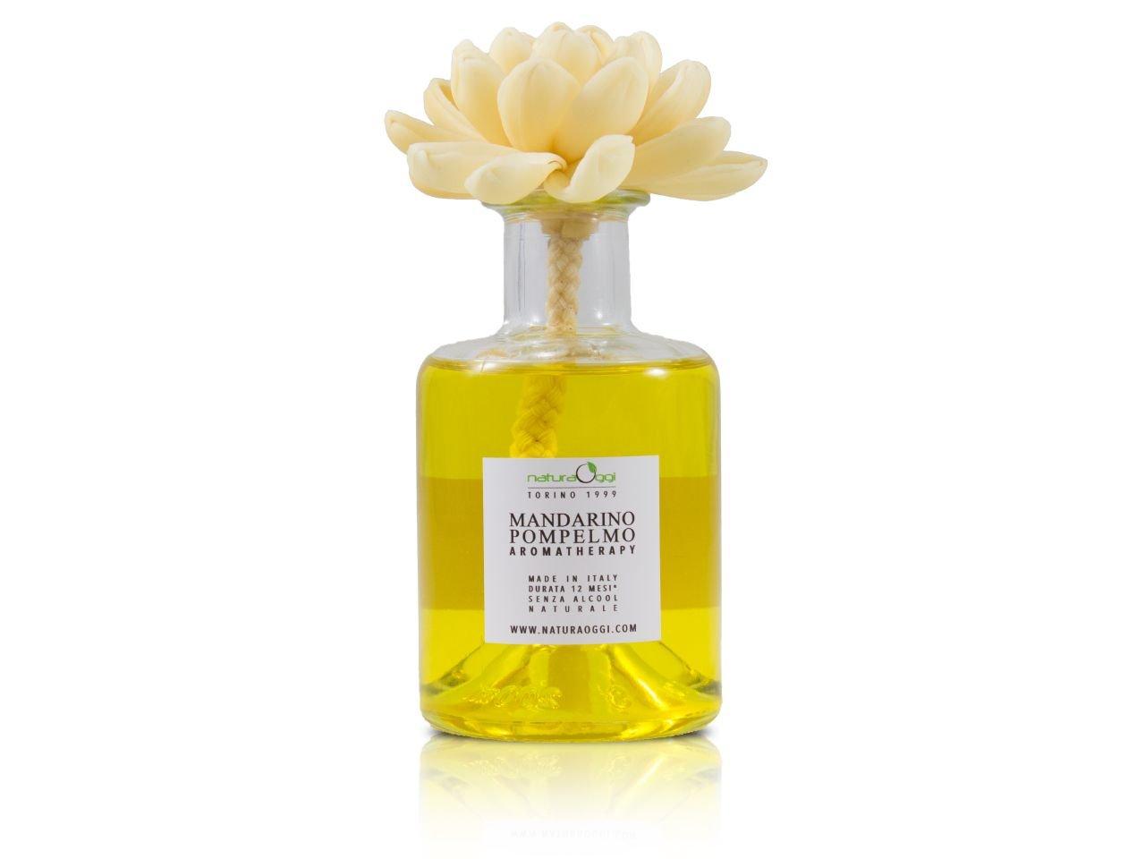 Diffusore con Fiore 180 ml Mandarino e Pompelmo -1