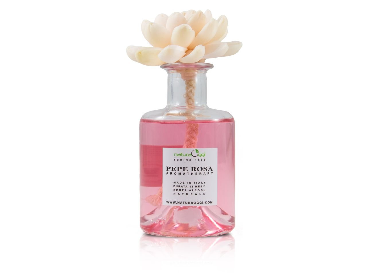 Diffusore con Fiore 180 ml Pepe Rosa - v1