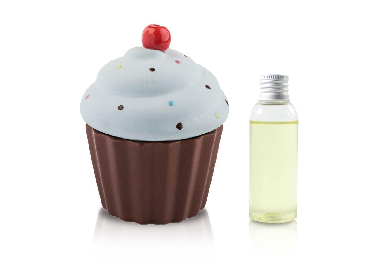 Diffusore Ambiente Cup Cake Azzurro Opaco 50 Ml - v1